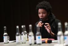 "Rasheedah Phillips at the panel ""Singularities"", transmediale 2017"