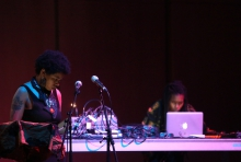Rasheedah Phillips & Moor Mother (Black Quantum Futurism Collective) at the transmediale opening ceremony