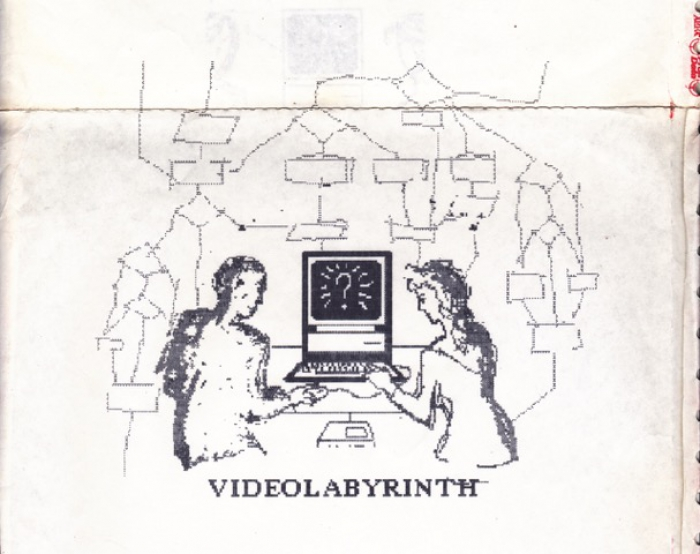 Plakatentwurf VideoLabyrinth (© Friederike Anders 1988)