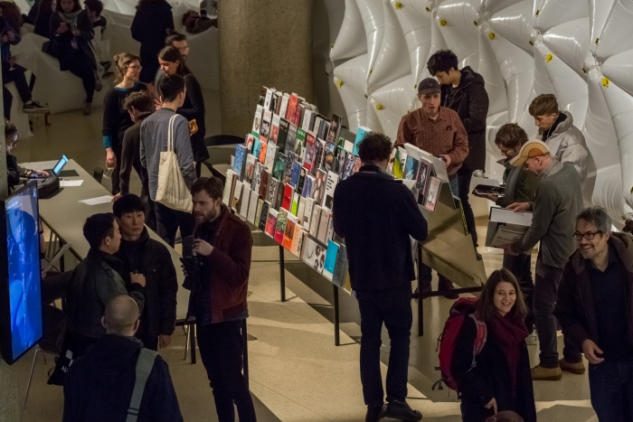 Temporary Library during the opening night