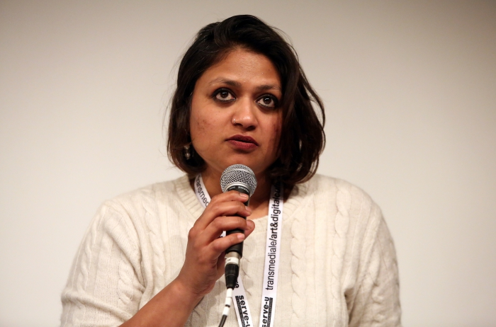 "Maya Indira Ganesh at ""Machine Research – Infrastructures"", transmediale 2017"