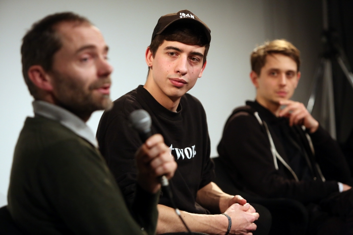 "Theun Karelse, Paul Kolling and Paul Seidler at ""Becoming Earth: Engineering Symbiotic Futures"", transmediale 2017"