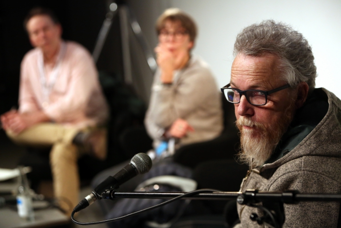 "Graham Harwood of YoHa at ""Material Flows: Rafts and Bodies at Sea"", transmediale 2017"