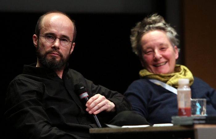 "Krystian Woznicki and Jutta Weber at ""Friendly Fire: What Is It to Re-think Radical Politics, Today?"", transmediale 2017"