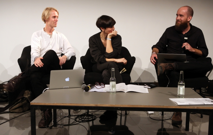 "Søren Rasmussen, Jara Rocha and Brian House at ""Machine Research – Interfaces"", transmediale 2017"