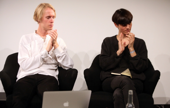 "Søren Rasmussen and Jara Rocha at ""Machine Research – Interfaces"", transmediale 2017"