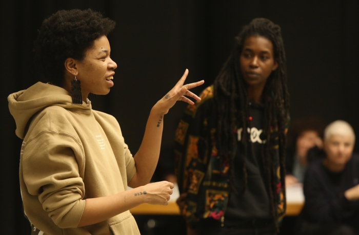 "Rasheedah Phillips and Moor Mother at ""Alternative Temporalities + Quantum Event Mapping"""