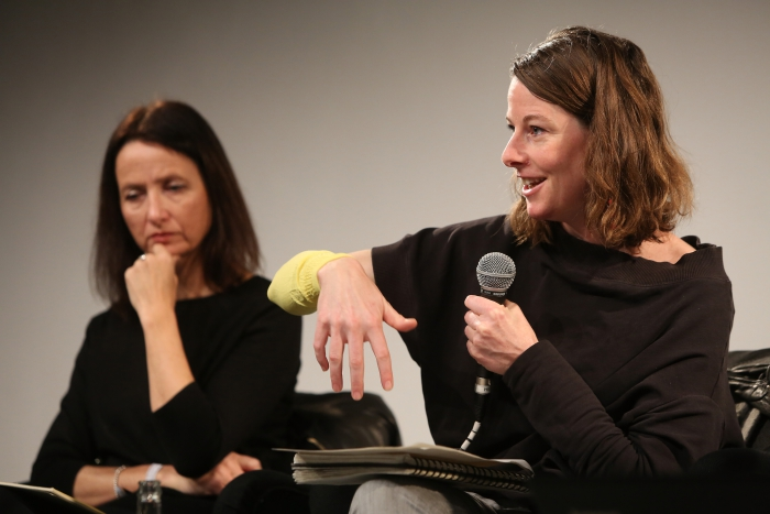 "Natalie Fento and Patricia Reed at ""Middle Session: The Middle to Come"", transmediale 2017"