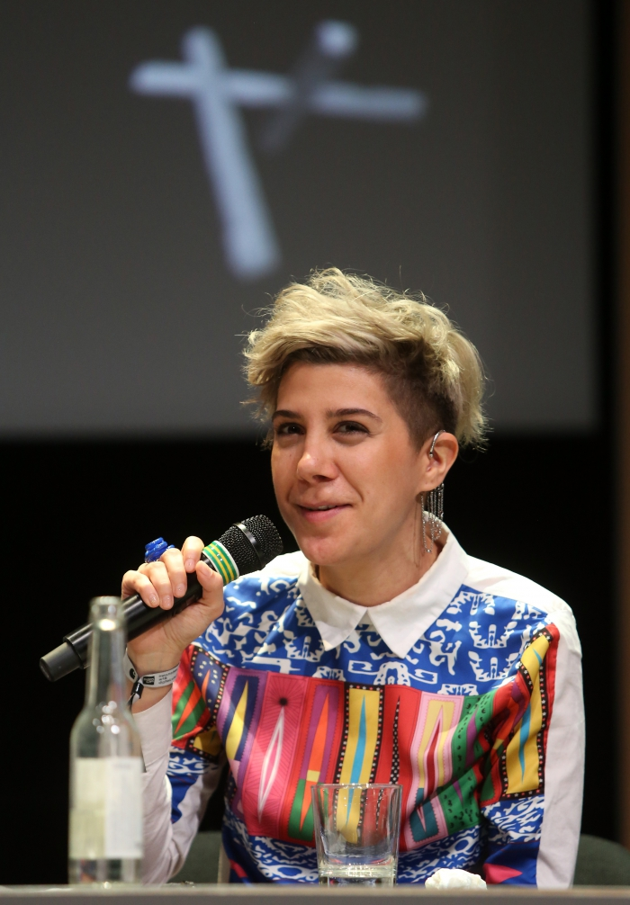"Morehshin Allahyari at the panel ""Singularities"", transmediale 2017"