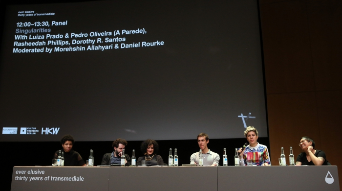 "Impression of the panel ""Singularities"", transmediale 2017"