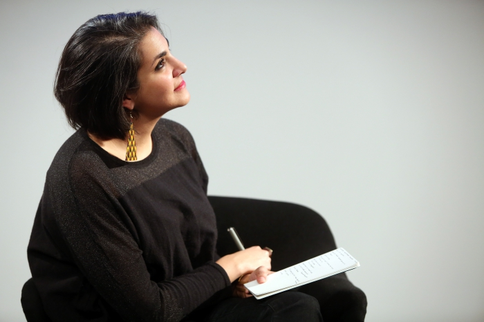 "Heba Y. Amin at the panel ""Mediterranean Tomorrows"", transmediale 2017"
