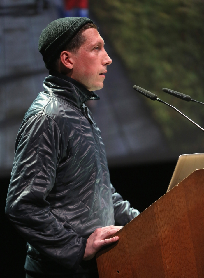 "Johannes Paul Raether at ""Strange Ecologies: From Necropolitics to Reproductive Revolutions"", transmediale 2017"