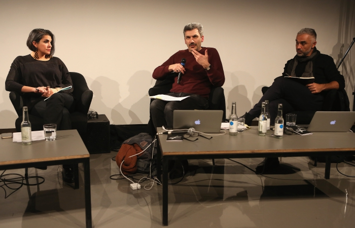 "Impression of the panel ""Mediterranean Tomorrows"", transmediale 2017"