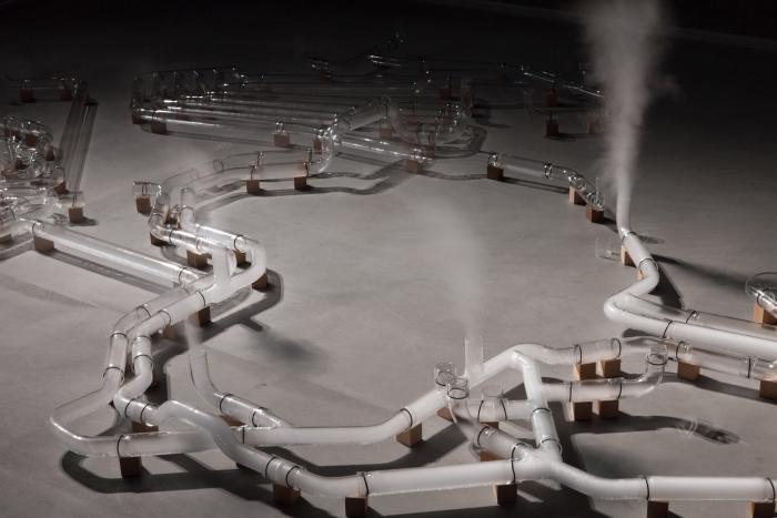 """An Internet by Jeroen van Loon in the exhibition """"alien matter"""", transmediale 2017"""