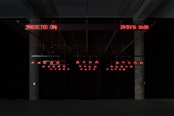 """Predictive Art Bot by Nicolas Maigret and Maria Roszkowska at the exhibition """"alien matter"""", transmediale 2017"""