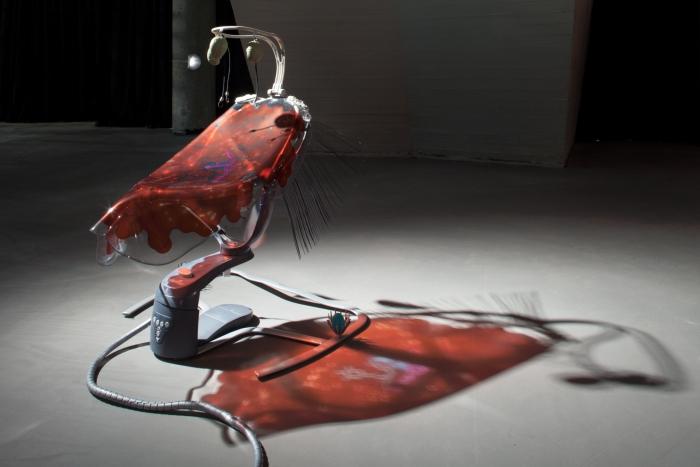 "Swoon Motion by Katja Novitskova at the exhibition ""alien matter"", transmediale 2017"