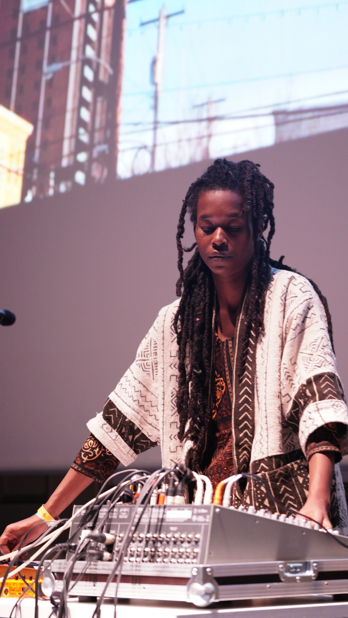 "Moor Mother performing ""Ritual Causality 003"", transmediale 2017"