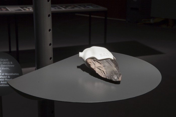 """Man Made by Ami Drach (1963-2012) & Dov Ganchrow (part of The 3D Additivist Cookbook) at the exhibition """"alien matter"""", transmediale 2017."""