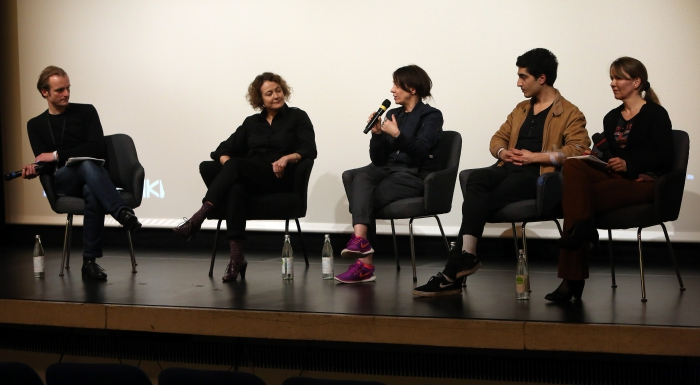 "Q&A after the screening ""PANORAMIS PARAMOUNT PARANORMAL"", transmediale 2017 ever elusive."