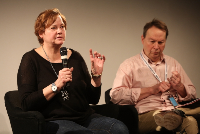 "Susan Schuppli and Ryan Bishop at ""Middle Session: The Elemental Middle"", transmediale 2017"