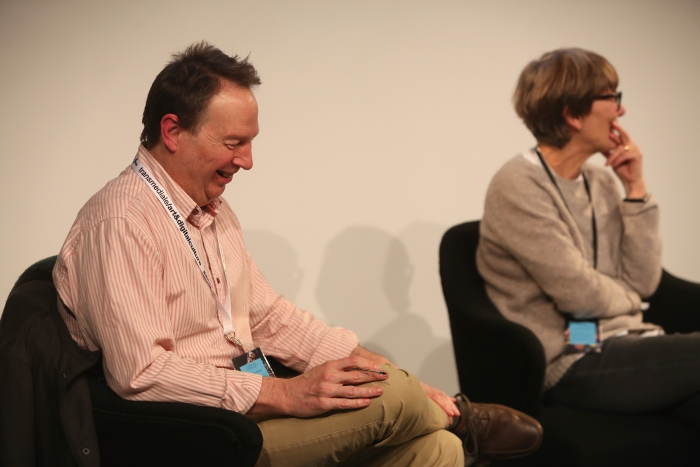 "Ryan Bishop and Marie-Luise Angerer at ""Material Flows: Rafts and Bodies at Sea"", transmediale 2017"