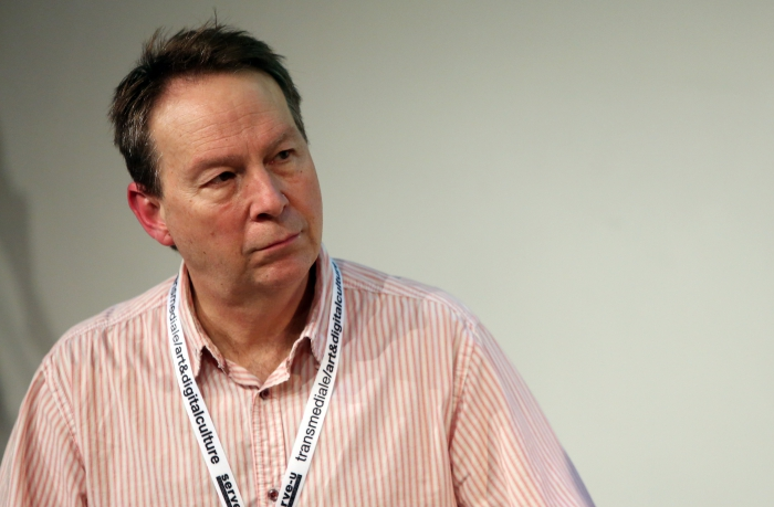 "Ryan Bishop at ""Material Flows: Rafts and Bodies at Sea"", transmediale 2017"